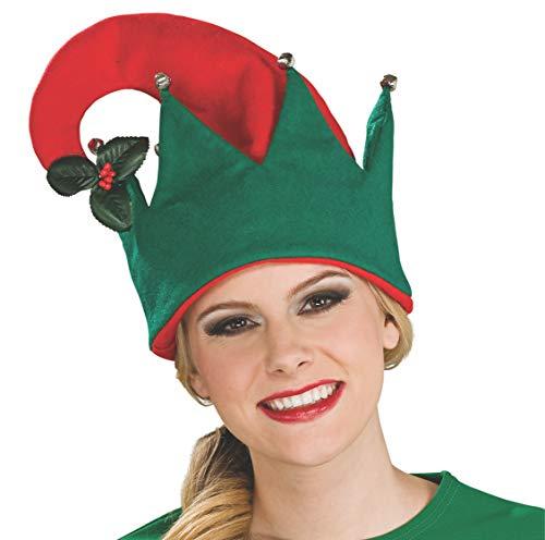 Mistle Toe Hat (Rubie's Mistletoe Hat, Red/Green, One)