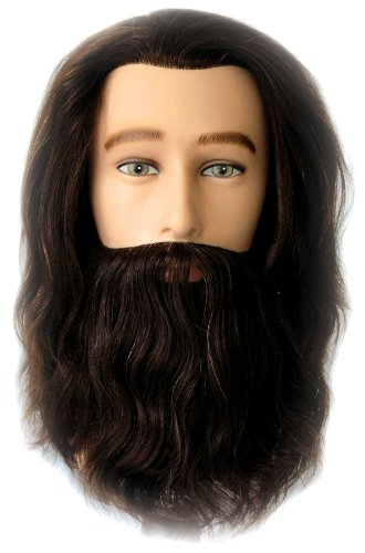 (Celebrity Mr. Sam Cosmetology Human Hair Manikin with Beard)