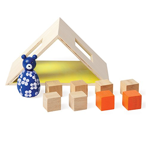 Manhattan Toy Mio Wooden Toy Camping 11 Piece Imaginative Play Kit Modular Building Blocks Set - Imaginative Activities