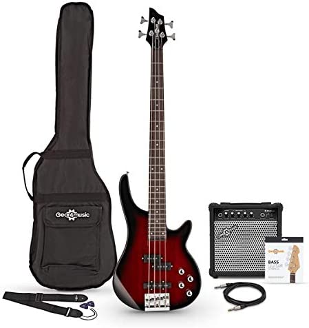 Trans Red Burst 15W Amp Pack Chicago Bass Guitar