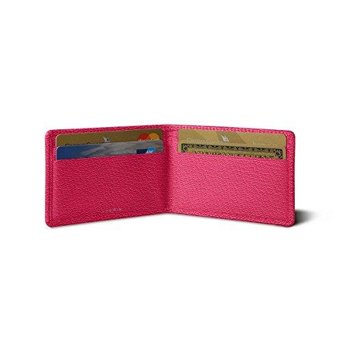 Lucrin Kreditkarten Portemonnaie - Ziegenleder Fuchsia sfyxN2