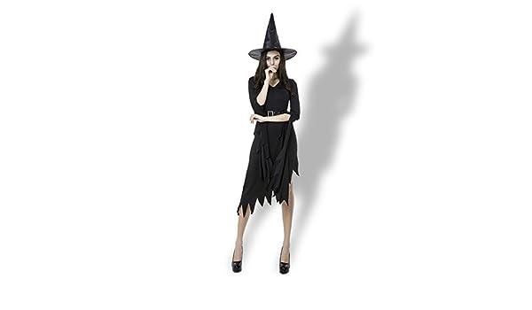 NSK Disfraz de Halloween para Mujer Falda Larga Irregular Negra ...