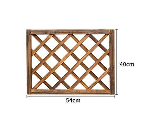 AIDELAI flower rack Carbonized Solid Wood Grid Living Room Wall-mounted Flower Wall Wall Balcony Wall Hanging Green Flower Hanging Basket Shelf Patio Garden Pergolas by AIDELAI
