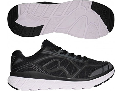 More Mile R66 Herren Cushioned Neutral Laufschuhe Trainer Black