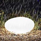 Homever RGB Luz Solar de Jardín - Lámpara Esfera con 16 Colores Ajustables, 40cm Iluminación Exterior LED de Globo, IP54…