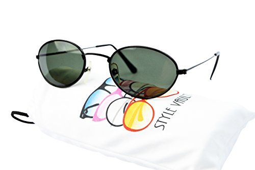V3024-vp Style Vault Oval Round 80s 90s Metal Sunglasses (50416 - For Oval Men Sunglasses
