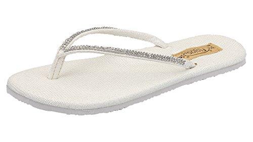 Flojos Womens Patti Flip Flop Style 185 Sandals Pearl 5MEKeczMP