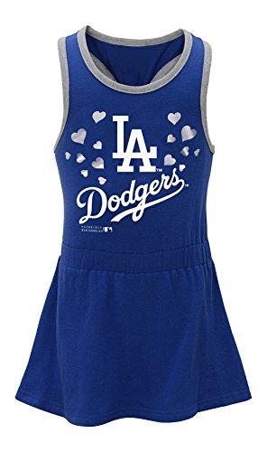 MLB Los Angles Dodgers Toddler Girls Criss Cross Tank-2T, Deep Royal