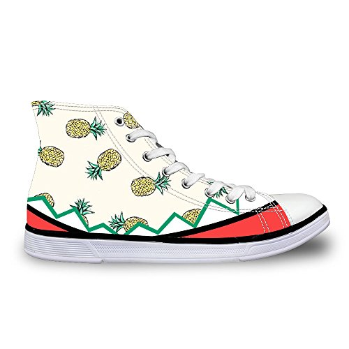 Girls High Stylish U Lace 1 Womens Sneakers up FOR DESIGNS Shoes Casual Top Yellow 0qwEIxa