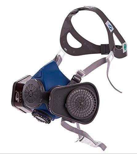 Induschoice Half Facepiece Reusable Respirator Spray Paint Pesticide Respirator Respiratory Protection Dual Cartridges Gas Mask,Medium(Mask+1 Pair Cartridges) by Induschoice (Image #1)