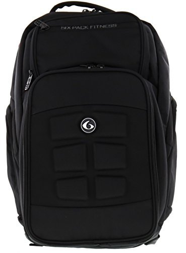 6 Pack Fitness Expedition 500 Backpack - Black Stealth Meal Management Bag by 6 Pack Fitness