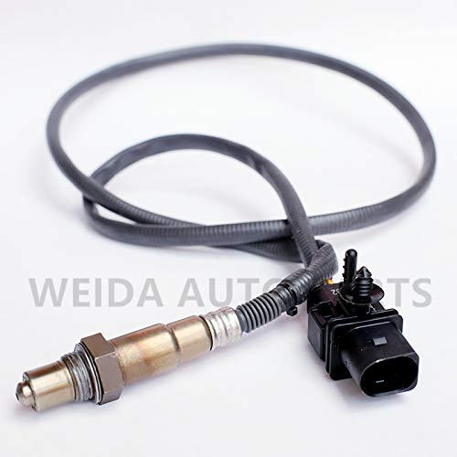 Air Fuel Ratio Oxygen Sensor LSU 4.9 5 Wire Wide band Replacement AFR O2 sensor Replaces # Bosch LSU 4,9 17025 and 0258017025 Compatible with AEM 30-4110 Wideband Kit (0258017025, The picture color)