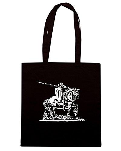 T-Shirtshock - Bolsa para la compra T0106 CAVALIERE militari Negro