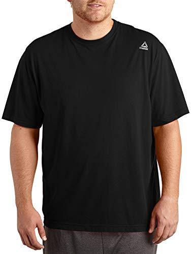 Reebok Big and Tall Play Dry Tech T-Shirt (6X-Tall, Black) [Misc.]