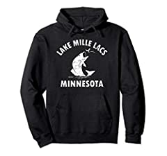 Bass Fishing Souvenir Hoodie. Lake Mille Lacs Fishing Hoodie Bass Fisherman Gift. Lake Mille Lacs Minnesota Fishing T-shirt large mouth or small mouth Bass Fishing Tshirt. Perfect gift for a fisherman who loves to fish the Lake for Bass.