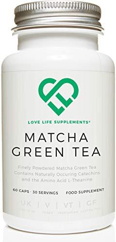 LLS Te verde japones matcha | Potente antioxidante que protege las celulas del estres oxidativo | Sin agentes de carga solo matcha puro | 60 capsulas | Producido en el Reino Unido bajo certificacion GMP