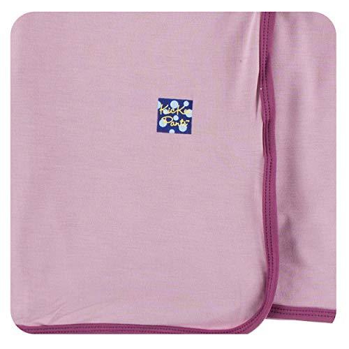 KicKee Pants Little Girls Solid Swaddling Blanket - Sweet Pea with Amethyst, One - Fleece Pea Sweet Blanket