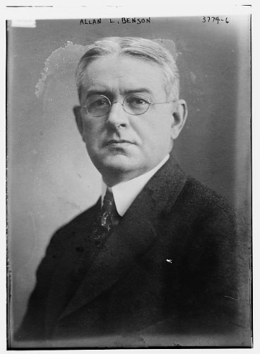 Photo: Allan Louis Benson,1871-1940,American newspaper editor,author,ran for President