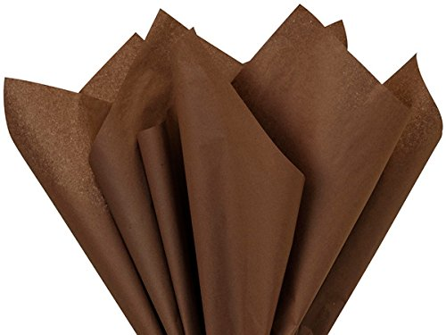 (Chocolate Brown Tissue Paper Ream 480 Sheets Wholesale Packaging Gift Wrap)