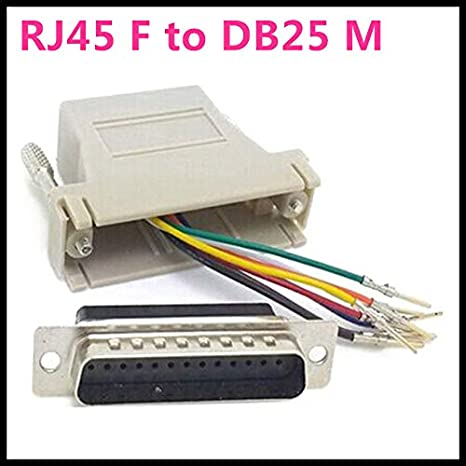 Cable Length: Db25 Malle Computer Cables 1Pcs DB25 25Pin Male to RJ45 Female Modular Adapter Extender