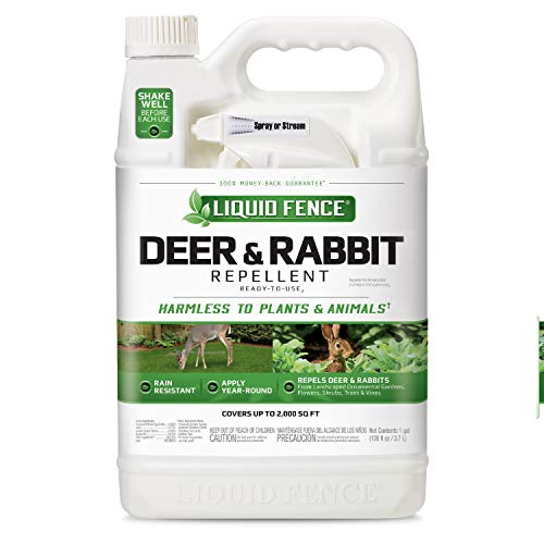 (Liquid Fence Deer & Rabbit Repellent Ready-to-Use, 1-Gallon)