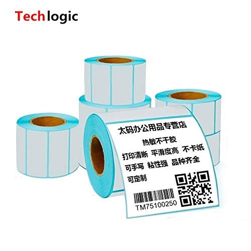 Printer Parts 60mm X 50mm Thermal Label Adhesive Stickers 6050500pcs per roll Thermal Sensitive Adhesive Sticker Barcode Printer Labels by Yoton (Image #4)