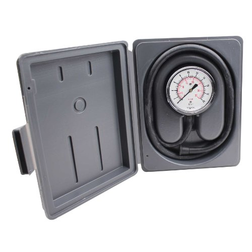 NOSHOK 200 Series Dry Dial Indicating Low Pressure Diaphragm Gauge with Gas Pressure Test Kit, 2-1/2