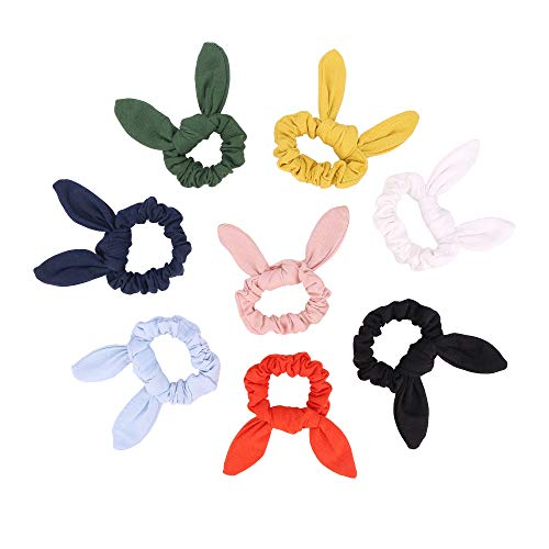 stbeyond 8 Pack Solid Color Rabbit Ears Scrunchy Rabbit for sale  Delivered anywhere in USA