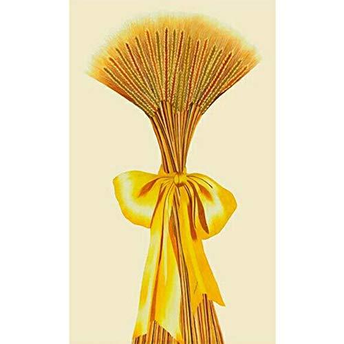 Mhshm 5D DIY Diamond Painting Home Decoration Painting Golden Wheat Ears Full Diamond Cross -