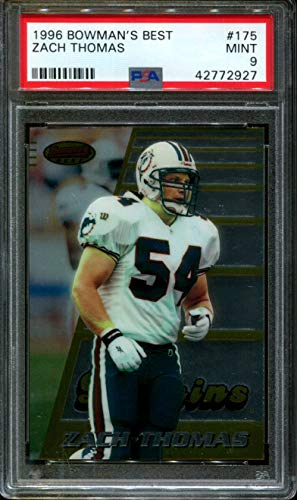 1996 BOWMAN'S BEST #175 ZACH THOMAS RC DOLPHINS PSA for sale  Delivered anywhere in USA