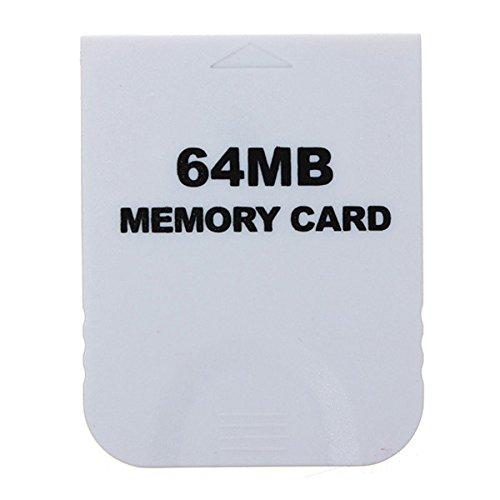 GOZAR 64 MB Tarjeta De Memoria Blanca para Nintendo Wii ...
