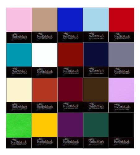 NatureMark Jersey Spannbettlaken in allen Größen und vielen Farben (pink, 90x200 bis 100x200 cm)