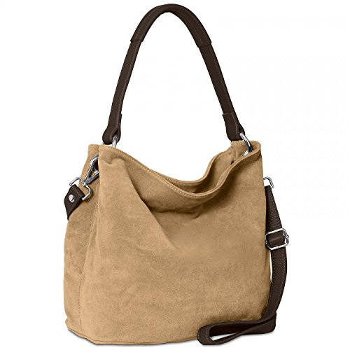 Body TL580 Handbag Shoulder Khaki CASPAR Cross Bag made from many Suede Bag Womens colours wBTnZqHxX