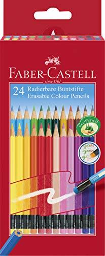 Faber-Castell 116625 - Lápices de colores borrables, estuche de cartón de 24 unidades