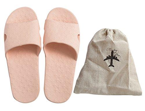 Sandalo Da Bagno Antiscivolo Da Bagno Urbano Sandalo Pieghevole Casa Pantofole Interne Rosa