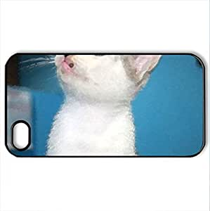arrogant - Case Cover for iPhone 4 and 4s (Cats Series, Watercolor style, Black)