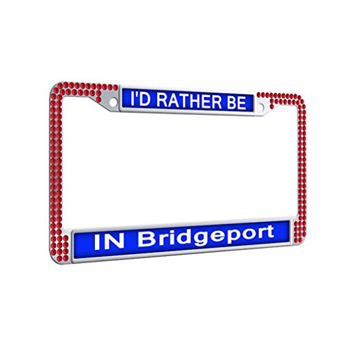 For sale Crystal License Plate Frame, ' Rather Bridgeport Covers Outdoors Unique Frame