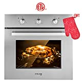 Wall Oven, Gasland chef ES606MS 24' Built-in Single Wall Oven, 6 Cooking Function, Stainless Steel Electric Wall Oven With Cooling Down Fan, 3 Layer Glass, ETL Safety Certified & Easy To Clean