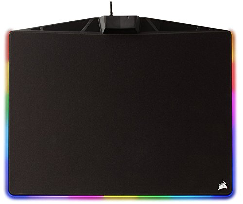 CORSAIR  MM800C Polaris RGB Mouse Pad - Cloth Surface - 15 RGB LED Zones - USB Passthrough - High-Performance Mouse Pad Optimized for Gaming Sensors