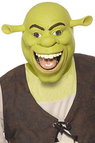 Smiffy's Officially Licensed Shrek Latex Mask ()
