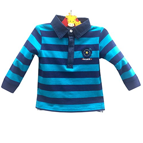Topprom Baby Boy Cotton Sweater Shirt Long Sleeve Jersey POLO-Shirt for 3M 6M 12M 18M 24M (6-12M, - Kids Outlet Polo