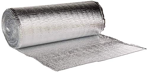 - Premium Heat Reflective Insulation Roll(16 Inch x 50 Feet) Reflective Aluminum Insulation Roll with Foam for Walls, Attics, Air Ducts, Windows, Radiators. HVAC and Garages
