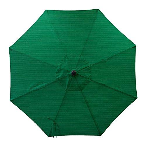 Secret Garden Home Goods 9ft 8 Ribs Market Umbrella Replacement Canopy (Sunbrella- Forest Green)