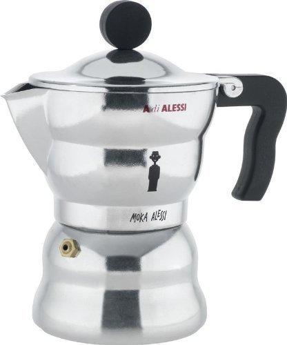 Alessi Alessandro Mendini Moka Espresso Coffee Maker 3 Cup by Alessi