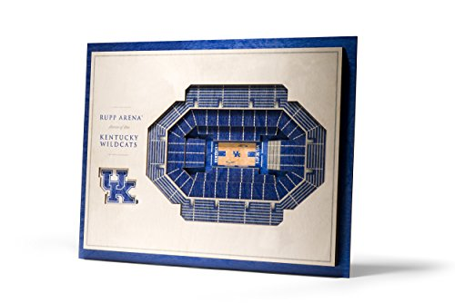 NCAA Kentucky Wildcats 5-Layer Stadiumviews 3D Wall Art ()