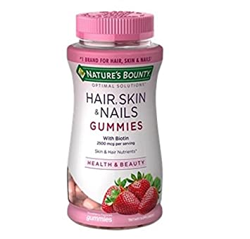 Amazon.com: Nature\'s Brand Bounty Optimal Solutions Hair Skin Nails ...
