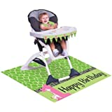 Creative Converting Wild at One Giraffe High Chair Party Kit, 3-Piece
