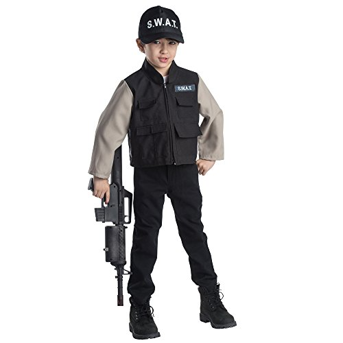[Dress Up America 830 SWAT Team Role Play Set44; Age 3 to 6] (Swat Costumes Kid)