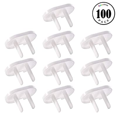 Feeko Outlet Covers, 100pcs Child Protection Plug Protector Hard Hat Protect Baby Safety Prevent Baby Accidental Electric Shock Danger White