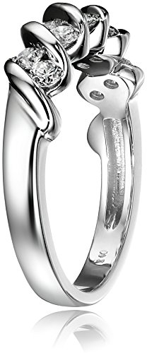14k White Gold and Diamond Channel Set Anniversary Ring (1/2 cttw, H I Color, I1 I2 Clarity)